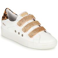 Shoes Women Low top trainers Semerdjian GARBIS White / Gold