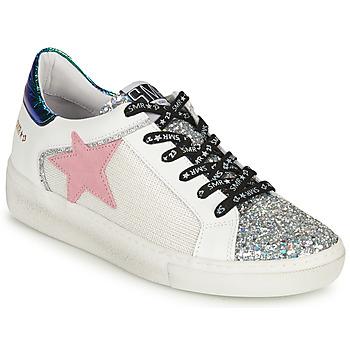 Shoes Women Low top trainers Semerdjian CARLA Silver / White / Green