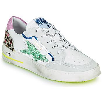 Shoes Women Low top trainers Semerdjian ARTO White / Grey / Blue