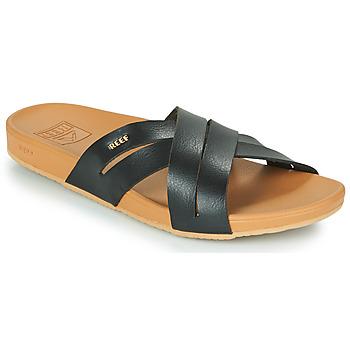 Shoes Women Sliders Reef CUSHION SPRING BLOOM Black