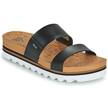 Shoes Women Sliders Reef CUSHION VISTA HI Black