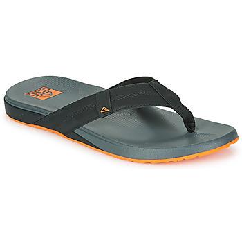 Shoes Men Flip flops Reef CUSHION PHANTOM Black / Orange
