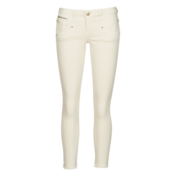 Clothing Women 5-pocket trousers Freeman T.Porter ALEXA CROPPED NEW MAGIC COLOR Butter / Cream
