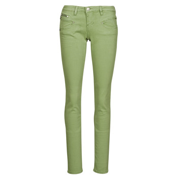 Clothing Women 5-pocket trousers Freeman T.Porter ALEXA SLIM NEW MAGIC COLOR Turf / Green