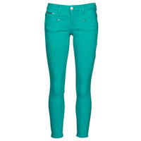 Clothing Women 5-pocket trousers Freeman T.Porter ALEXA CROPPED NEW MAGIC COLOR Viridian / Green