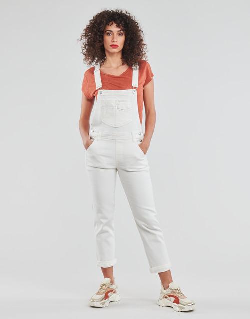 Clothing Women Jumpsuits / Dungarees Freeman T.Porter TARA MUZEY Snow / White