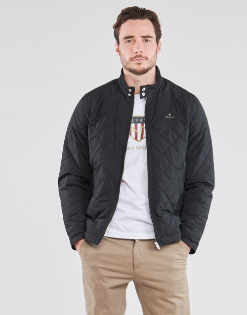 Clothing Men Jackets Gant QUILTED WINDCHEATER Black