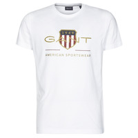 Clothing Men Short-sleeved t-shirts Gant ARCHIVE SHIELD White