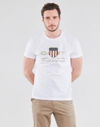 Clothing Men Short-sleeved t-shirts Gant ARCHIVE SHIELD White
