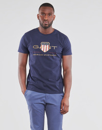 Clothing Men Short-sleeved t-shirts Gant ARCHIVE SHIELD Marine