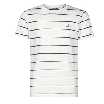 Clothing Men Short-sleeved t-shirts Gant BRETON STRIPE White