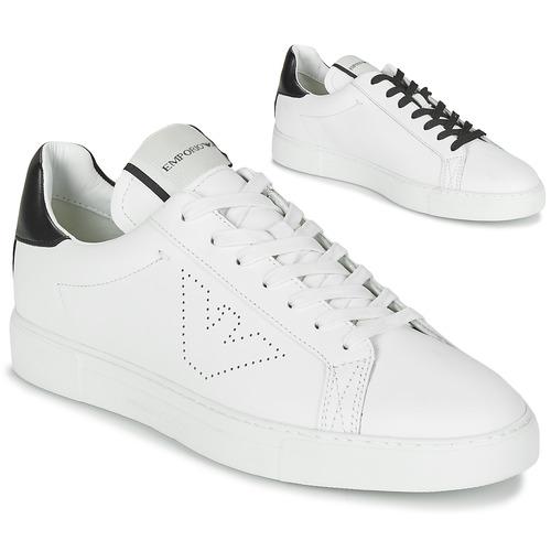 Shoes Men Low top trainers Emporio Armani BELGA White