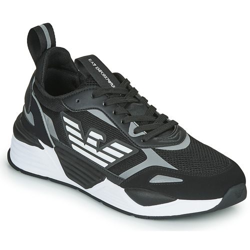 Shoes Men Low top trainers Emporio Armani EA7 BLACES Black