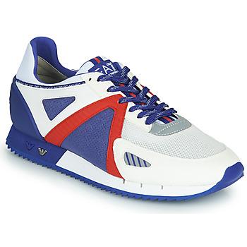 Shoes Men Low top trainers Emporio Armani EA7 SAPONI White / Blue / Red