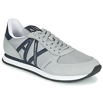 Shoes Men Low top trainers Armani Exchange ESPACIA Grey