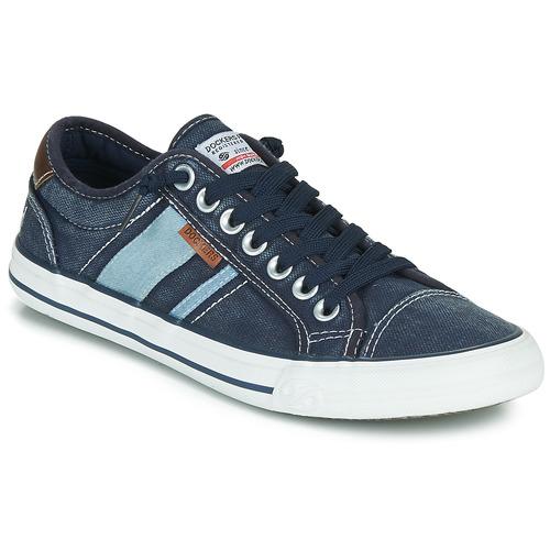 Shoes Men Low top trainers Dockers by Gerli 42JZ004-670 Blue