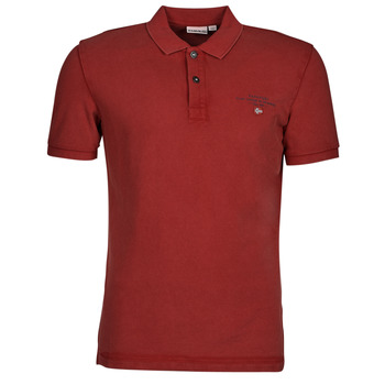 Clothing Men Short-sleeved polo shirts Napapijri ELBAS 4 Red