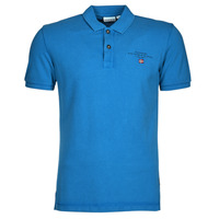Clothing Men Short-sleeved polo shirts Napapijri ELBAS 4 Blue
