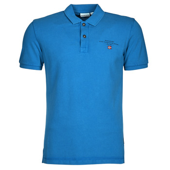 Clothing Men Short-sleeved polo shirts Napapijri ELBAS 4 Blue