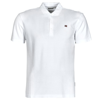 Clothing Men Short-sleeved polo shirts Napapijri EALIS White