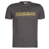Clothing Men Short-sleeved t-shirts Napapijri SALLAR SS Grey / Dark