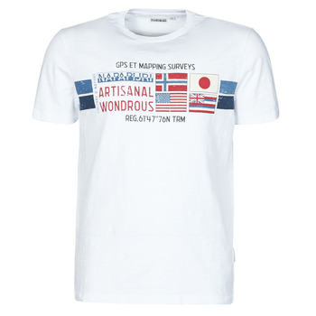 Clothing Men Short-sleeved t-shirts Napapijri SILEA White