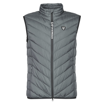 Clothing Men Duffel coats Emporio Armani EA7 TRAIN CORE SHIELD M DOWN LIGHT VEST Grey
