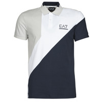 Clothing Men Short-sleeved polo shirts Emporio Armani EA7 3KPF06-PJ03Z-1554 White / Marine / Grey
