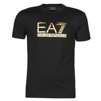Clothing Men Short-sleeved t-shirts Emporio Armani EA7 3KPT87-PJM9Z-1200 Black / Gold