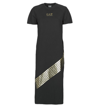 Clothing Women Long Dresses Emporio Armani EA7 3KTA54-TJ2HZ-1200 Black / Gold