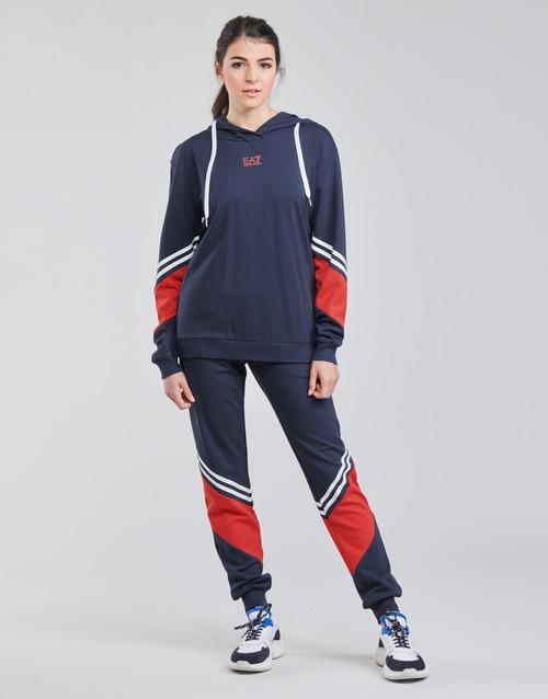 Clothing Women Tracksuits Emporio Armani EA7 3KTV65-TJ3PZ-1554 Marine / White / Red