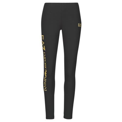 Clothing Women Leggings Emporio Armani EA7 8NTP63-TJ01Z-0200 Black / Gold