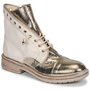 Shoes Women Mid boots Fru.it 6846-480-PLATINO Gold