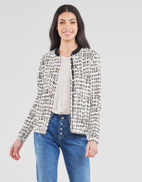 Clothing Women Jackets / Blazers One Step MADANY Ecru / Black