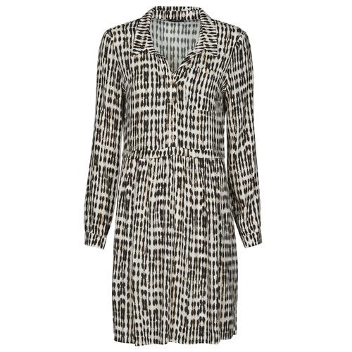 Clothing Women Short Dresses One Step RANDA Beige / Black