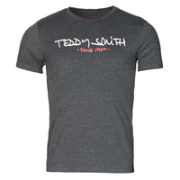 Clothing Men Short-sleeved t-shirts Teddy Smith TICLASS Grey / Dark