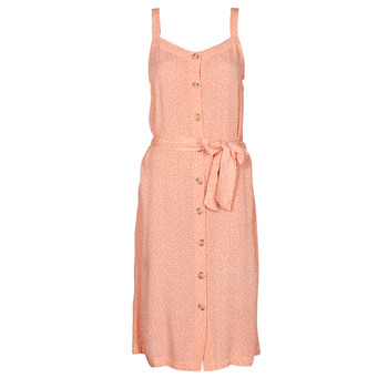 Clothing Women Short Dresses Rip Curl TALLOWS SPOT MIDI Peach
