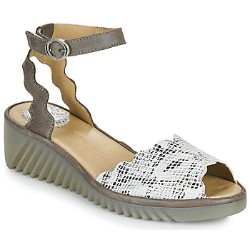 Shoes Women Sandals Fly London LUME Gold / Python