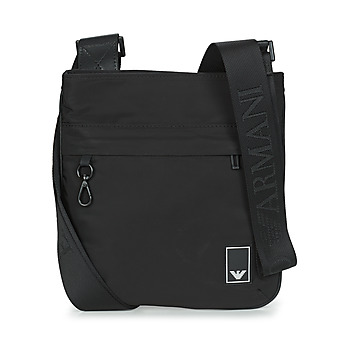 Bags Men Pouches / Clutches Emporio Armani SMALL FLAT MESS. TRAVEL ESSENT - MESSENGER BAG Black
