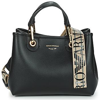 Bags Women Handbags Emporio Armani BORSA SHOPPING Black / Gold