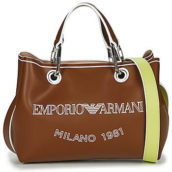 Bags Women Handbags Emporio Armani BORSA SHOPPING Camel