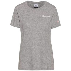 Clothing Women Short-sleeved t-shirts Champion Crewneck Tshirt Grey