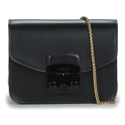 Bags Women Shoulder bags Furla METROPOLIS MINI CROSSBODY Black