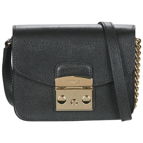 Bags Women Small shoulder bags Furla METROPOLIS MINI CROSSBODY Black