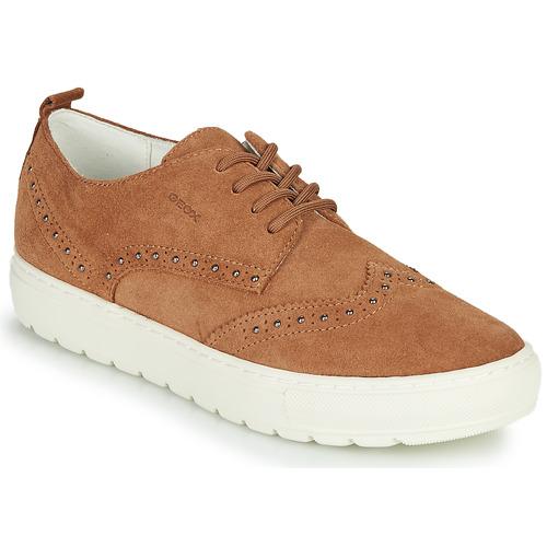Shoes Women Low top trainers Geox D BREEDA Brown