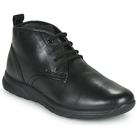 Shoes Men Hi top trainers Geox U DAMIAN Black