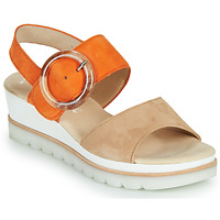Shoes Women Sandals Gabor 6464512 Beige / Orange