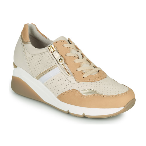 Shoes Women Low top trainers Gabor 6648853 Ivory / Caramel