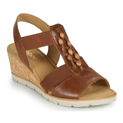 Shoes Women Sandals Gabor 6575024 Brown