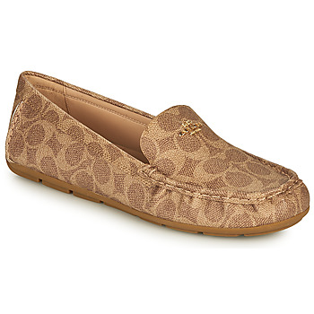 Shoes Women Loafers Coach MARLEY DRIVER Brown